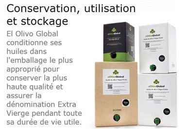 Huile d'Olive Extra Vierge bag in box - Conservation